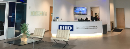 HID Global 本社のロビー