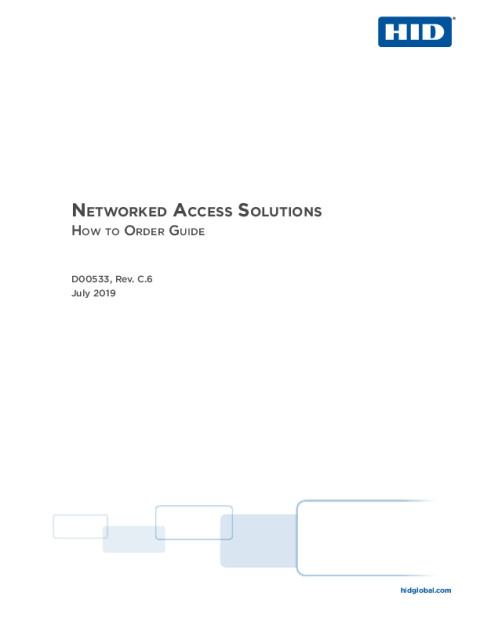 Networked Access How To Order Guide