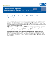 The 4 Most Important Certifications - Rugged RFID Tags
