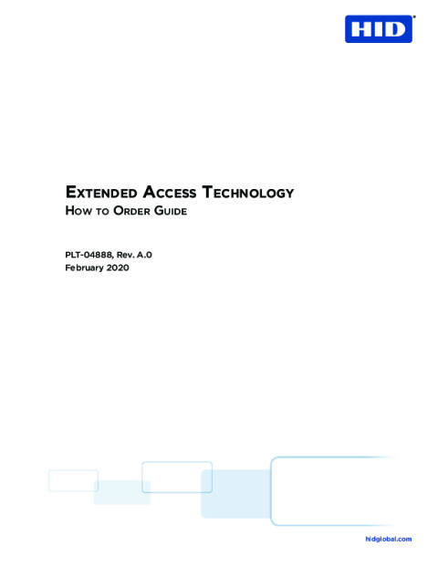 Extended Access Technology How to Order Guide