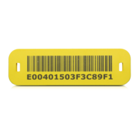 SlimFlex tag with barcode